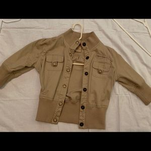 Tan short sleeve jacket